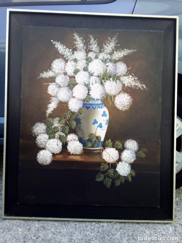 JARRON DE FLORES. FIRMADO POR SU AUTOR. 65X80 LA OBRA. (Arte - Pintura - Pintura al Óleo Contemporánea )