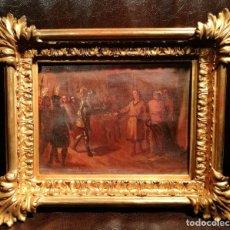 Arte: ESCENA HISTORICA. MUY PROXIMO A EDUARDO ROSALES (1836-73). Lote 132399950