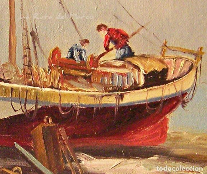 Arte: Márquez - Marina (I) - Cuadro de óleo sobre lienzo - Foto 4 - 132410934
