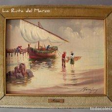 Arte: MÁRQUEZ - MARINA (II) - CUADRO DE ÓLEO SOBRE LIENZO. Lote 132411202