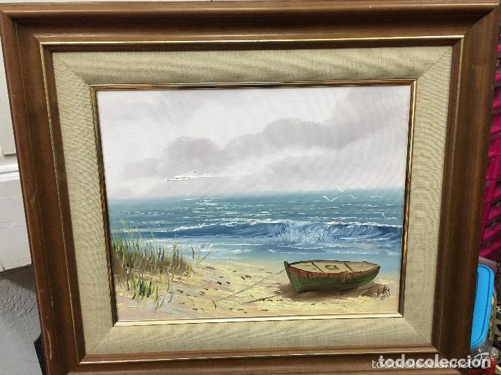 marco de madera con pintura oleo sobre lienzo f - Comprar Pintura al ...