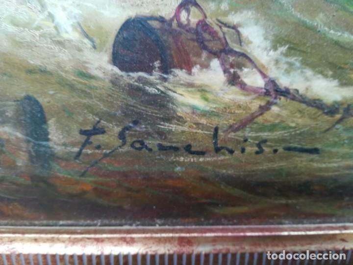 Arte: VELEROS EN LA TORMENTA POR F.SANCHIS - Foto 4 - 132427742