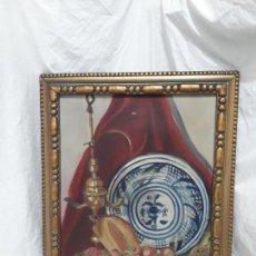 Arte: ANTIGUA PINTURA BODEGÓN OLEO SOBRE TELA DEL PINTOR C. CORRIOLS AÑO 1928. Lote 132466190