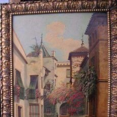 Arte: SEVILLA,PATIO CANDERROS ,ÓLEO FIRMADO A.RUICARVIA .IDEAL COLECCIONISTAS . Lote 132524254