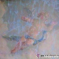 Arte: ÓLEO RELIGIOSO FINALES DEL SIGLO XIX REPRESENTANDO QUERUBÍN ,PARA RESTAURAR MEDIDAS 88X70 CM . Lote 132608782