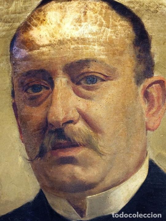 Arte: RETRATO DE CABALLERO. ÓLEO(?) SOBRE LIENZO. FIRMADO S. MATILLA. ESPAÑA. 1890 - Foto 3 - 132660810