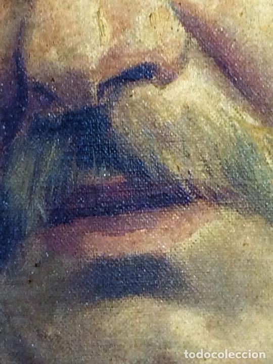 Arte: RETRATO DE CABALLERO. ÓLEO(?) SOBRE LIENZO. FIRMADO S. MATILLA. ESPAÑA. 1890 - Foto 5 - 132660810