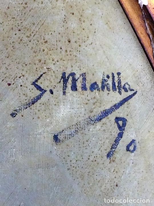 Arte: RETRATO DE CABALLERO. ÓLEO(?) SOBRE LIENZO. FIRMADO S. MATILLA. ESPAÑA. 1890 - Foto 6 - 132660810