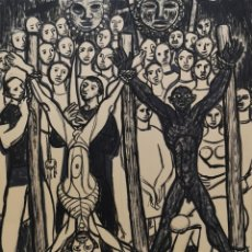 Arte: ISAAC DÍAZ PARDO. (SANTIAGO DE COMPOSTELA, 1920 - A CORUÑA, 2012) COMPOSICIÓN . TINTA SOBRE PAPEL. Lote 132665270