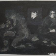 Arte: TÉCNICA MIXTA/CARTULINA 56 X 48 CM. FIRMADO Y TITULADO ZARAGOZA 1979.. Lote 132686402