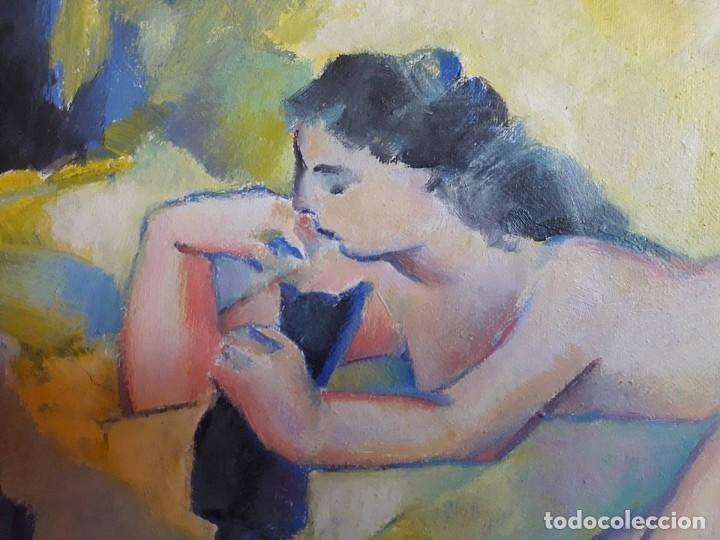 Arte: JOSEP MARIA ROSSELLO-MUJER CON GATOS-1992-CERTIFICADO DE AUTENTICIDAD- - Foto 5 - 132687146