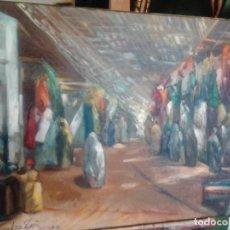 Arte: JOLOGA. ZOCO MORUNO. ÁRABE ORIENTALISTA. LIENZO 73X54.. Lote 132774406