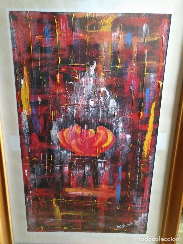 BERNARDO NOLET, OLEO, ESCUELA POTO-POTO DE BRAZZAVILE CONGO, ENMARCADO (Arte - Pintura - Pintura al Óleo Contemporánea )
