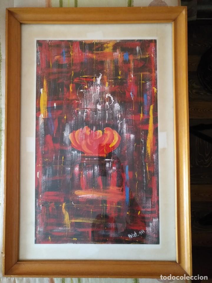 Arte: BERNARDO NOLET, OLEO, ESCUELA POTO-POTO DE BRAZZAVILE CONGO, ENMARCADO - Foto 2 - 132799290