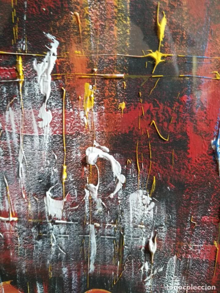 Arte: BERNARDO NOLET, OLEO, ESCUELA POTO-POTO DE BRAZZAVILE CONGO, ENMARCADO - Foto 4 - 132799290