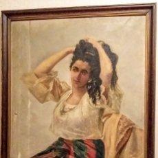 Arte: ÓLEO DE 1893. COPIA DE LA MESTIZA/ THE MESTIZA AT HER DRESSING TABLE DE JUAN LUNA NOVICIO. Lote 128633575