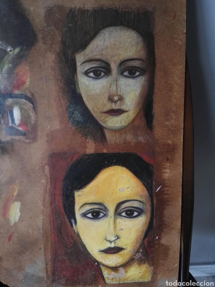 Arte: Pintura sobre tablero encontrado detras de un cuadro - Foto 2 - 132908873