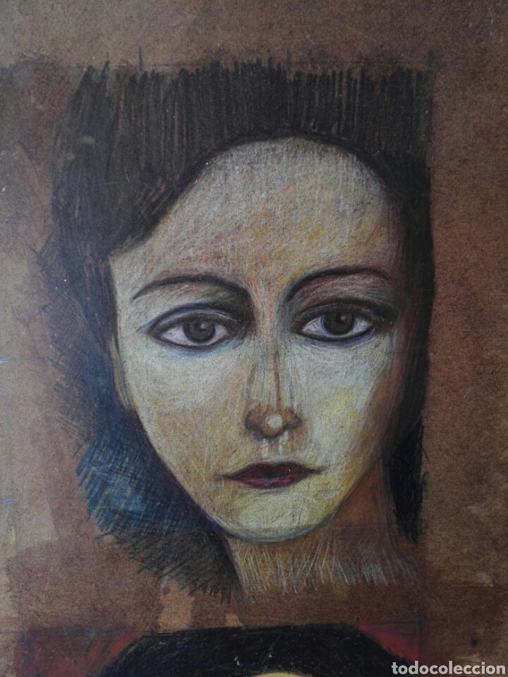 Arte: Pintura sobre tablero encontrado detras de un cuadro - Foto 3 - 132908873
