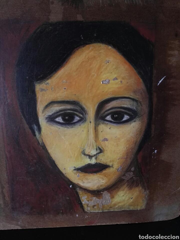 Arte: Pintura sobre tablero encontrado detras de un cuadro - Foto 4 - 132908873