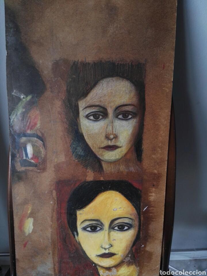 Arte: Pintura sobre tablero encontrado detras de un cuadro - Foto 5 - 132908873