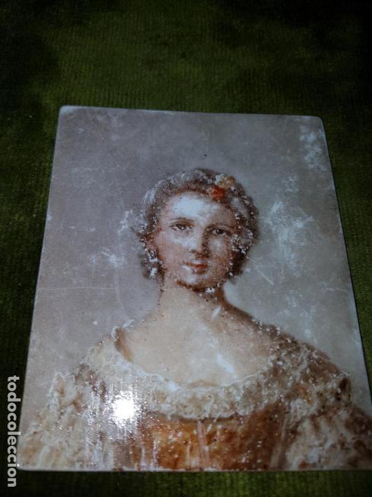 ÓLEO SOBRE OPALINA.MINIATURA.SIGLO XIX (Arte - Pintura - Pintura al Óleo Antigua sin fecha definida)