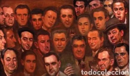 JOSE MARÍA LOPEZ MEZQUITA EL PINTOR CON SUS AMIGOS (Arte - Pintura - Pintura al Óleo Moderna siglo XIX)
