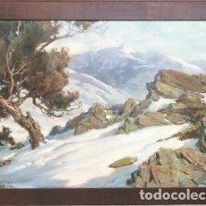 Arte: PERE BORRELL I BERTRAN: CIMS DE LA CERDANYA ÓLEO/TELA 59,5X86,5. Lote 133095862