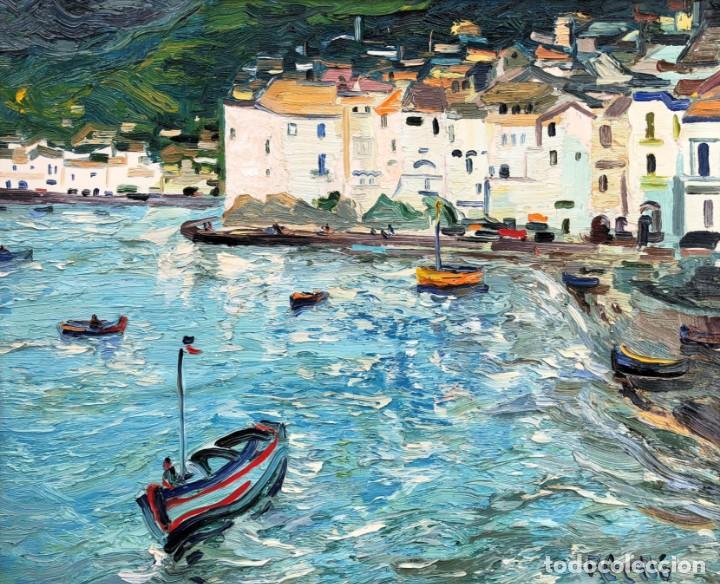JOAN ABELLÓ PRAT - MATÍ CADAQUÉS - ÓLEO LIENZO (Arte - Pintura - Pintura al Óleo Contemporánea )