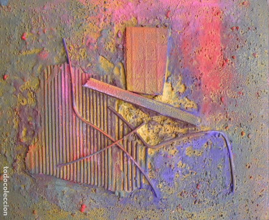 OBRA ABSTRACTA RECIENTE DE JOSE SANZ SALA( SOLO RECOGIDA ) (Arte - Pintura - Pintura al Óleo Contemporánea )