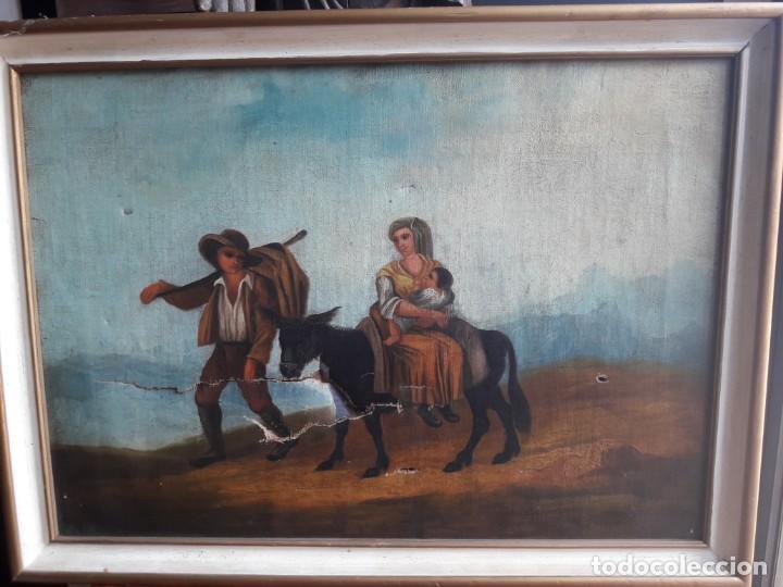 CAMPESINOS (Arte - Pintura - Pintura al Óleo Moderna siglo XIX)
