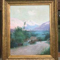 Arte: RAMON BORRELL I PLA (1876-1963): PAISATGE DE LA CERDANYA ÓLEO/TELA 66 X 53 CM PRINCIPIOS S. XX. Lote 133209566