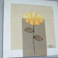 Arte: MODERNO CUADRO FLORAL PINTADO AL OLEO SOBRE LIENZO . Lote 133273702