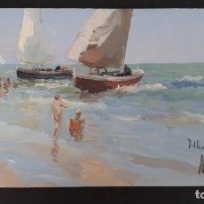 Arte: JOSE LUIS CHECA GALINDO OLEO SOBRE TABLA 11X18. Lote 133307706