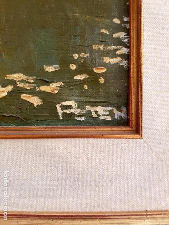 Arte: José Gutierrez Peten (1933-2014) - Vista Costera Embarcadero. Oleo sobre tabla. - Foto 7 - 133344510