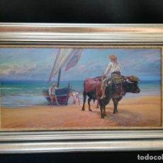 Arte: PESCADORES POR MANUEL LOPEZ. Lote 133450170