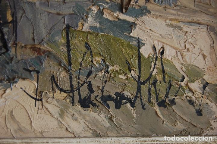 Arte: Firma sin identificar. Óleo sobre madera de 38x66 enmarcado 47x75. - Foto 7 - 133451606