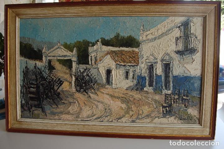 Arte: Firma sin identificar. Óleo sobre madera de 38x66 enmarcado 47x75. - Foto 9 - 133451606
