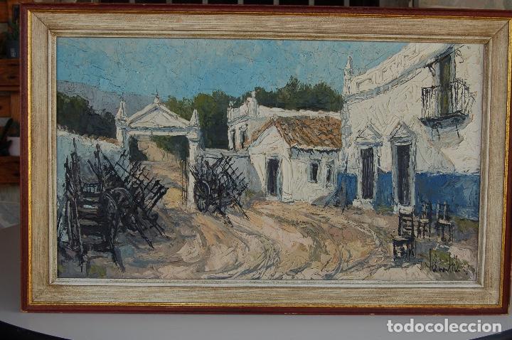 Arte: Firma sin identificar. Óleo sobre madera de 38x66 enmarcado 47x75. - Foto 10 - 133451606