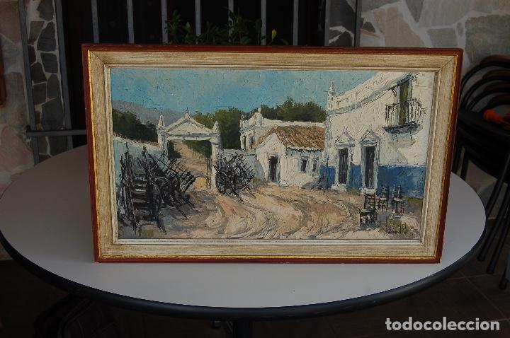 Arte: Firma sin identificar. Óleo sobre madera de 38x66 enmarcado 47x75. - Foto 11 - 133451606