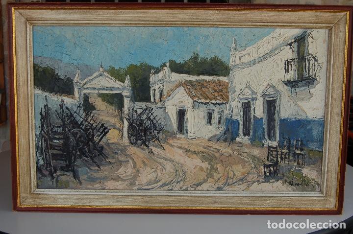 Arte: Firma sin identificar. Óleo sobre madera de 38x66 enmarcado 47x75. - Foto 12 - 133451606