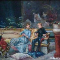 Arte: OLEO SOBRE TABLA. PAISES BAJOS. 50X44 CON MARCO. EXCELENTE MOLDURA.. Lote 133476510