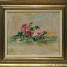 Arte: FLORES - ROSA MARIA - OLEO SOBRE LIENZO - 65X57 CM. Lote 109344786