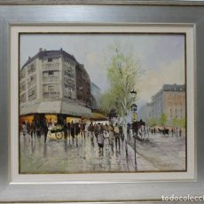 Arte: PARISINO - MARTIN PONS - OLEO SOBRE LIENZO - 81X72 CM. Lote 109345956