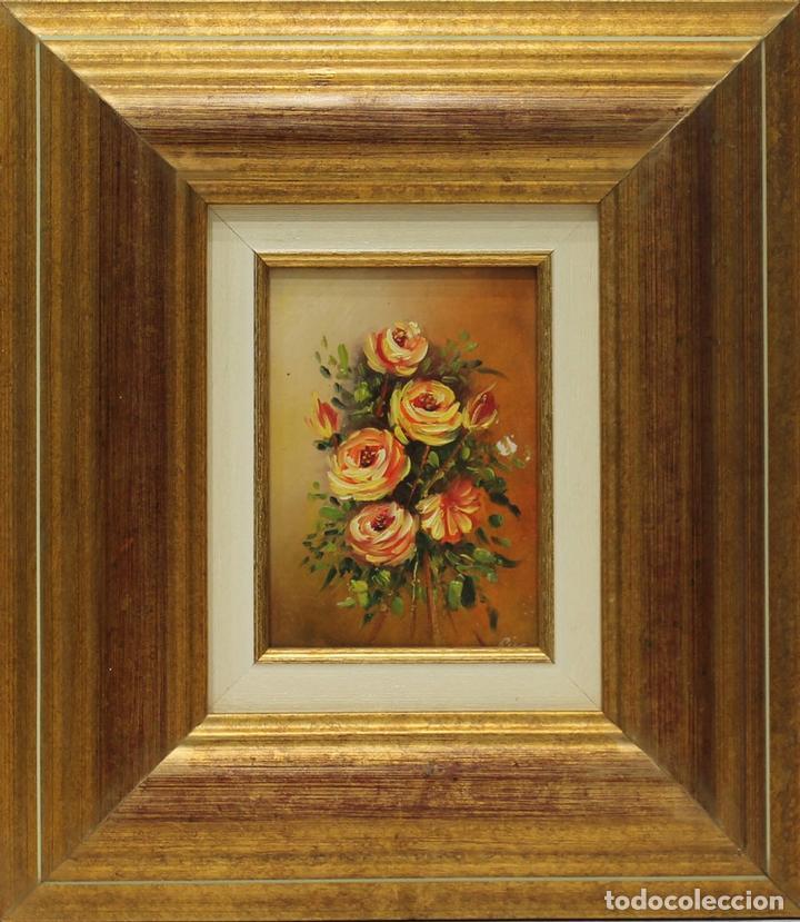 FLORES - ESCUELA HOLANDESA - OLEO SOBRE LIENZO - 41X36 CM (Arte - Pintura - Pintura al Óleo Contemporánea )