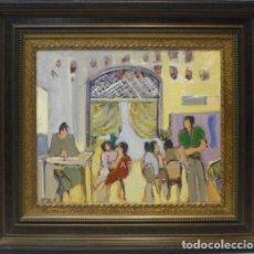 Arte: FIGURAS - ESCUELA SOROLLA - OLEO SOBRE LIENZO - 83X74 CM. Lote 98733626