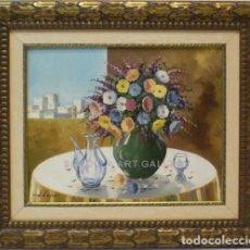 Arte: FLORES - ESCUELA HOLANDESA - OLEO SOBRE LIENZO - 59X51 CM. Lote 98733650