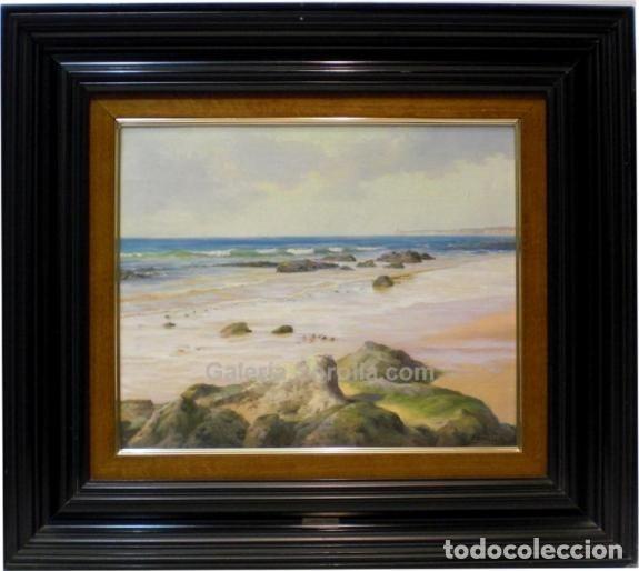 MARINA - ESCUELA SOROLLA - OLEO SOBRE LIENZO - 69X61 CM (Arte - Pintura - Pintura al Óleo Contemporánea )