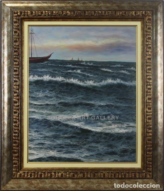 MARINA - ESCUELA HOLANDESA - OLEO SOBRE TABLA - 74X62 CM (Arte - Pintura - Pintura al Óleo Contemporánea )