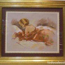 Arte: FIGURA DE MUJER - FONTÉ GARCÍA - PASTEL SOBRE PAPEL - 96X82 CM. Lote 98734064