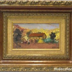 Arte: CASA DE CAMPO - MAURICE ERLICH - OLEO SOBRE TABLA - 46X35 CM. Lote 98734088